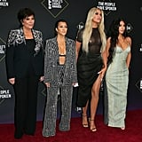 Kim Kardashian in Versace at the 2019 People's Choice Awards