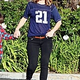 Drew Barrymore out for an LA walk.