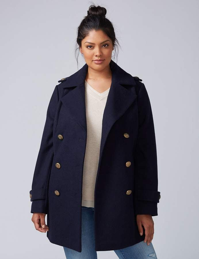 Lane Bryant Double-Breasted Coat
