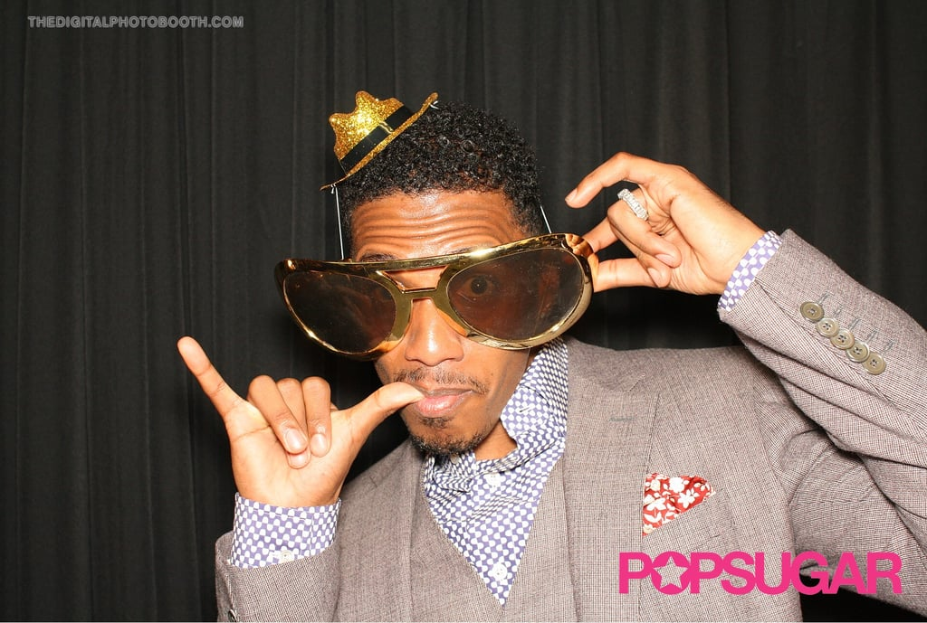 Nick Cannon was stylish in his big sunglasses.