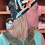 A tropical-print silk turban is glamorous while still feeling relaxed and carefree.