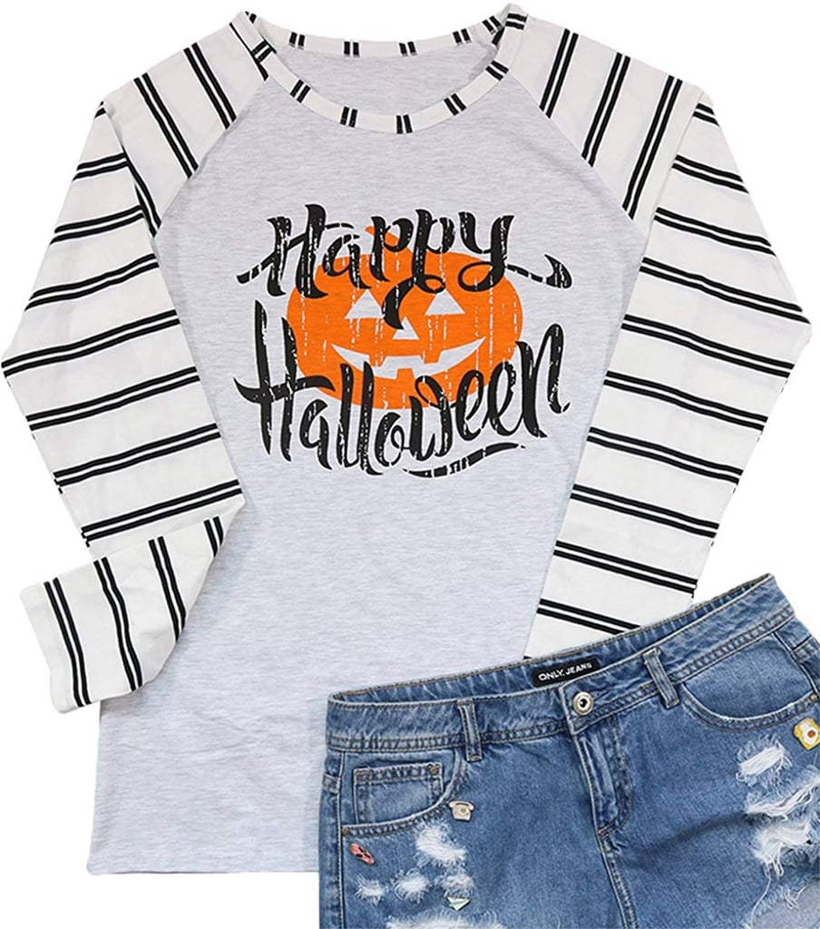 Happy Halloween Baseball T-Shirt