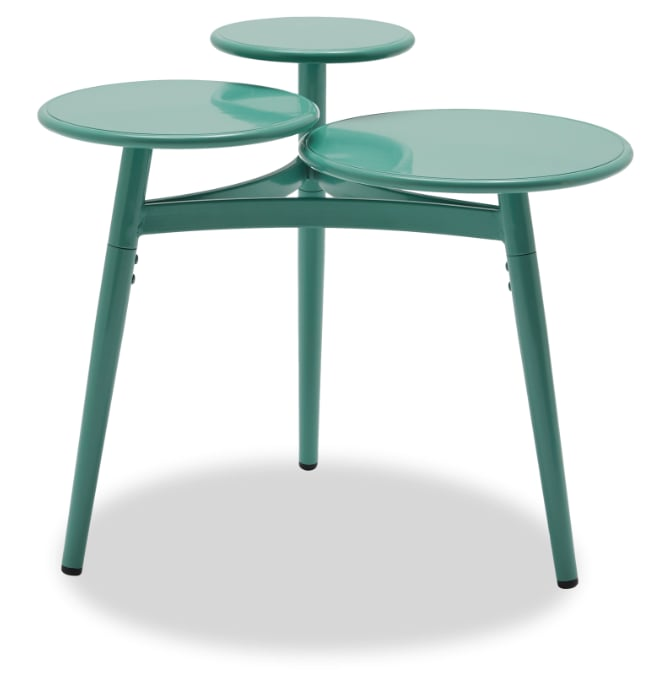 Multi-Tier Metal Accent Table