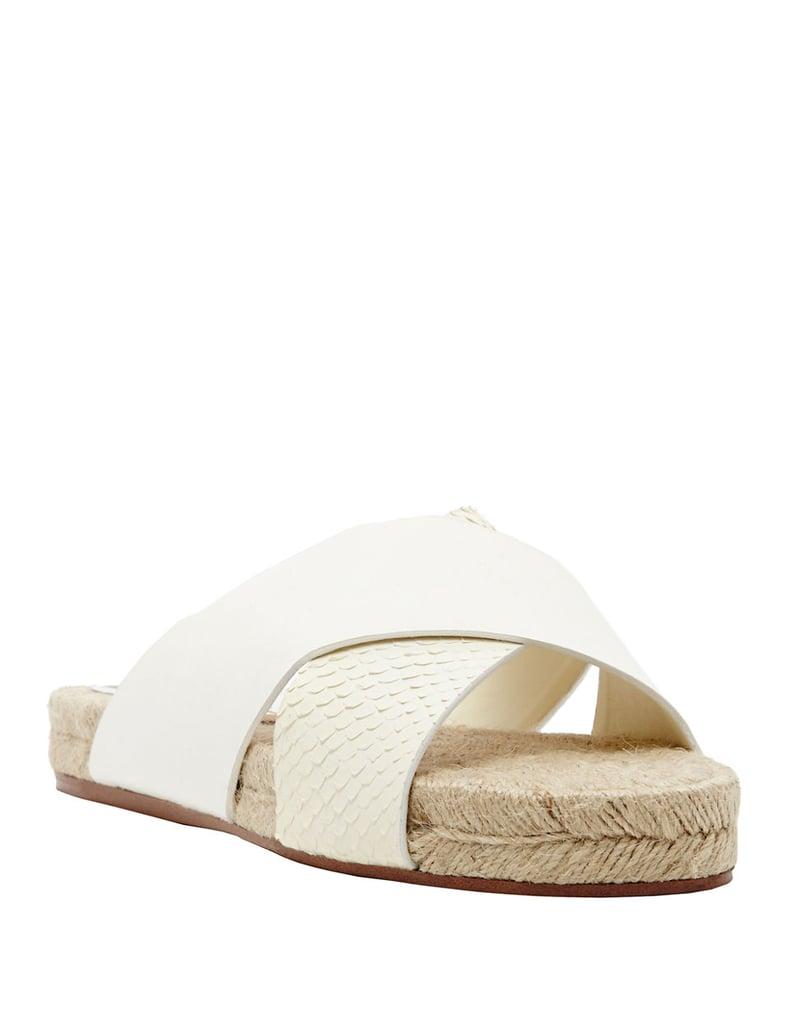 Dolce Vita Genivee Embossed Leather Slide Sandals