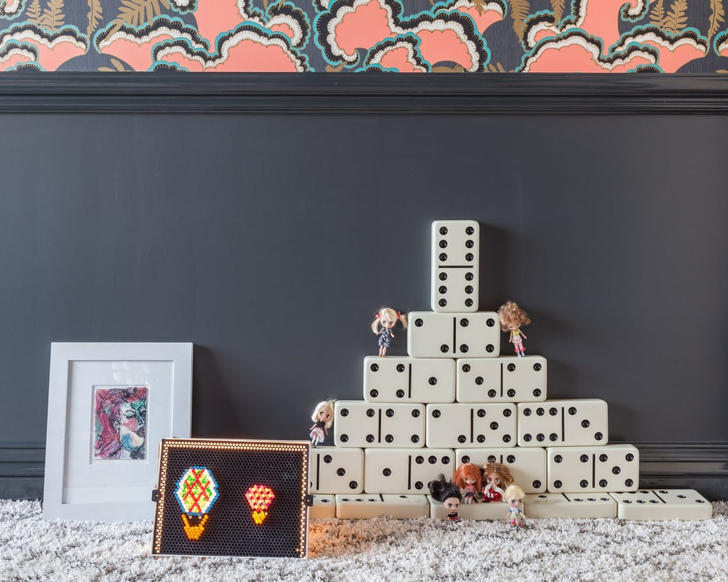 "With two young children of her own, Tamara knows that a tot's room has to ""inspire and create curiosity and imagination in children"" while also reflecting the rest of the home. Vintage toys — like dominoes and an original Lite-Brite — help bring it all together.  Photos courtesy of: Marco Ricca"