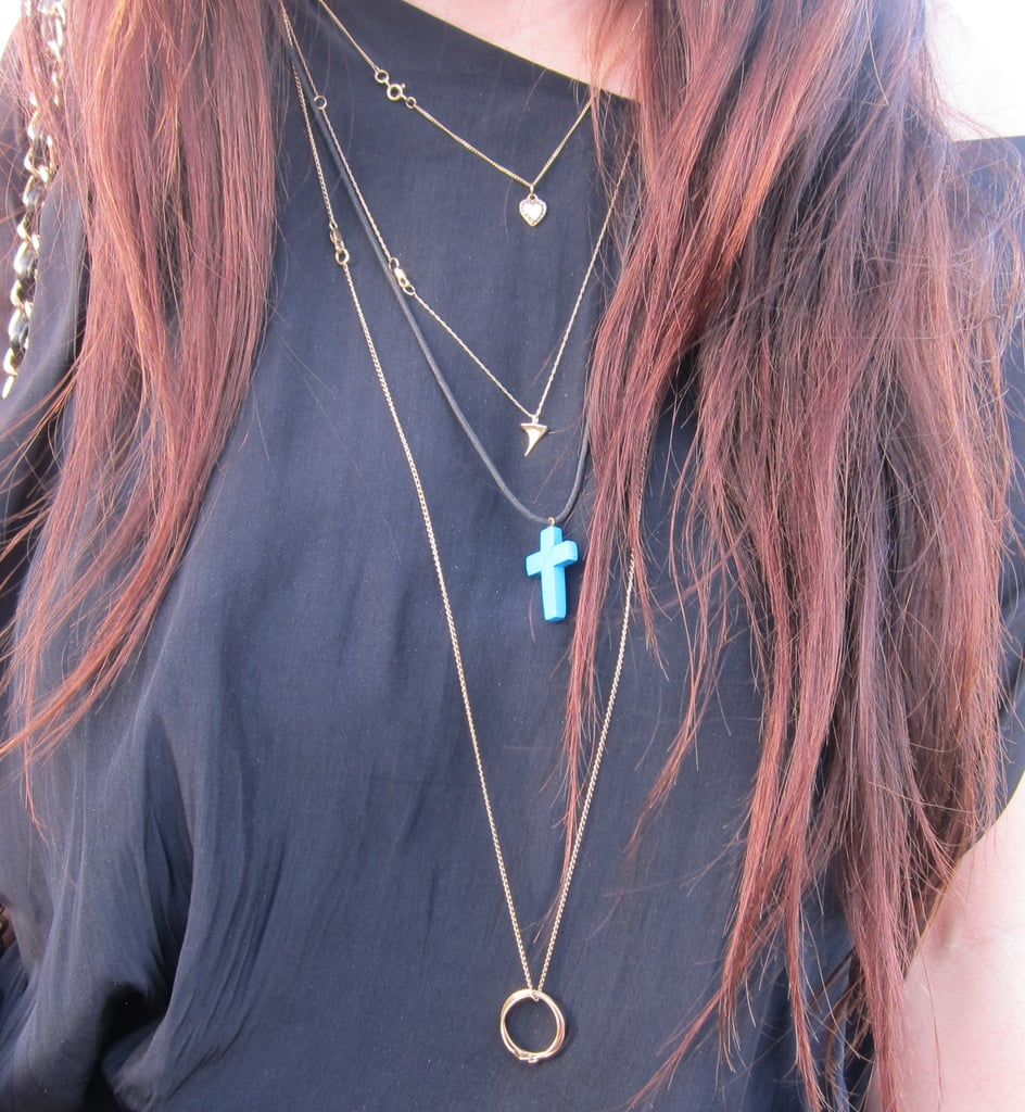 A step-by-step guide on how to layer necklaces.