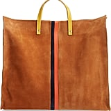 Clare V. Simple Stripe Suede Tote