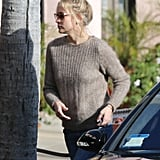 Kate Hudson wore a brown sweater in LA.