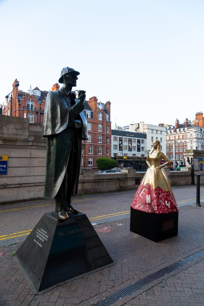 Enola Holmes Statue on Baker Street in London