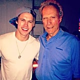 "Chord Overstreet caught up with Clint Eastwood during Coachella weekend one and called him his ""partner in crime.""  Source: Instagram user chordover"