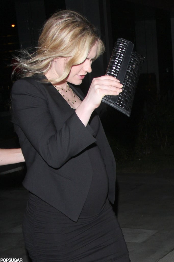 Anna Paquin left BOA Steakhouse in West Hollywood after the True Blood wrap party.