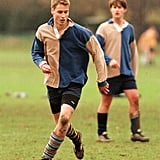 During his time at Eton College in June 2000, the young royal played a game of soccer.