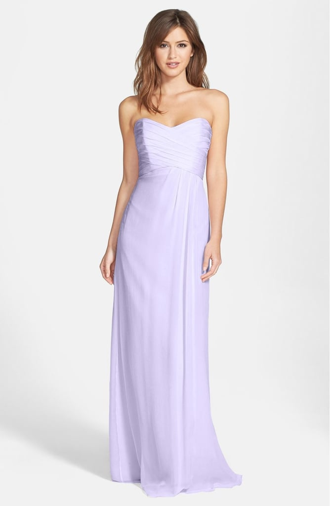 Amsale Women's Strapless Crinkle Chiffon Gown ($310)