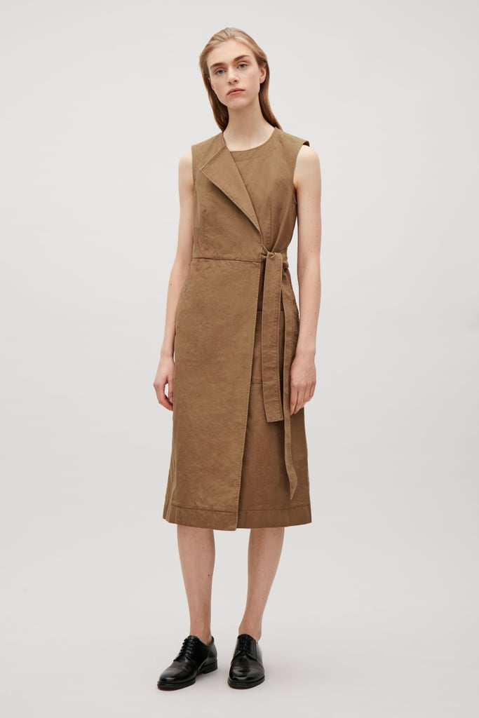 COS Wrap-Over Canvas Dress ($115)