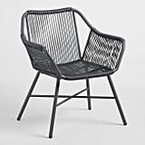 Charcoal Gray String Durban Outdoor Dining Chair