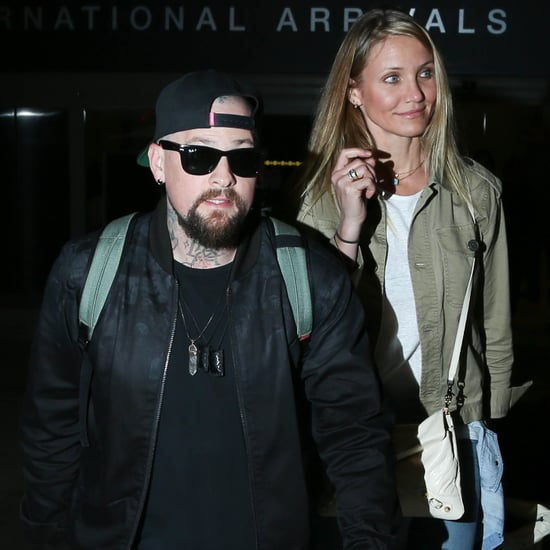 Cameron Diaz and Benji Madden Hold Hands LAX August 2015