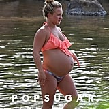 Hayden Panettiere Pregnant in a Bikini Pictures