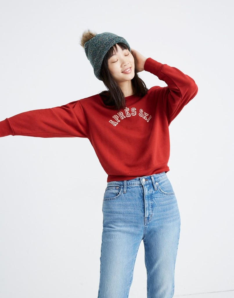 Après-Ski Pleat-Sleeve Sweatshirt