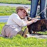 Ryan Gosling got to know his bulldog co-star from The Gangster Squad.