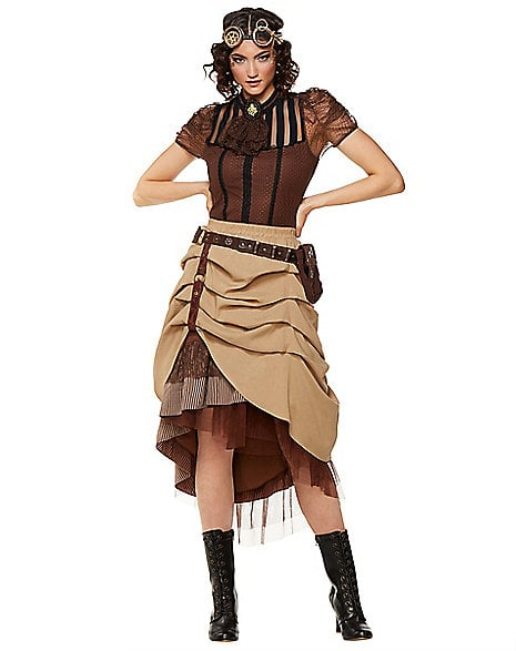 Steampunk Long Ruffle Skirt ($50)