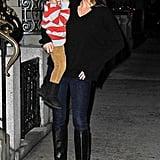 Miranda Kerr smiled at her son, Flynn Bloom, on a walk in NYC on Saturday.