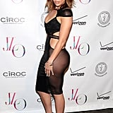 Jennifer Lopez celebrating her birthday at 1OAK.