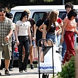 Photos of Kristen and Dakota on Set Over the Weekend