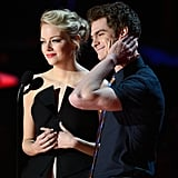Emma Stone and Andrew Garfield were cute on stage together as they presented an award.