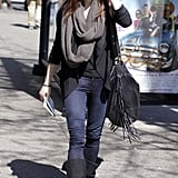 Ashley Greene Takes a Solo Stroll With Breaking Dawn Almost Done
