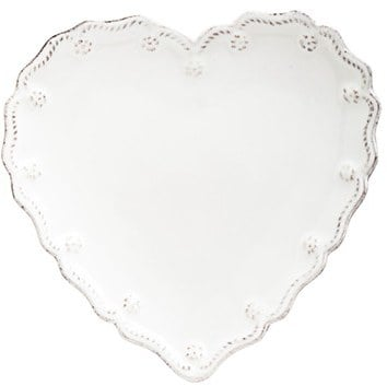 Juliska  Berry and Thread  Heart Shaped Cocktail Plates (Set of 4)  sc 1 st  Popsugar : heart shaped plates set of 4 - pezcame.com