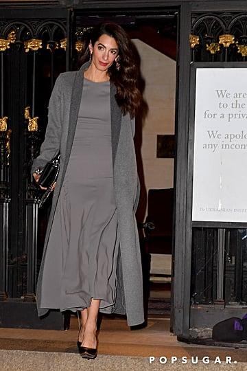 Amal Clooney's Black Alexander McQueen Bag