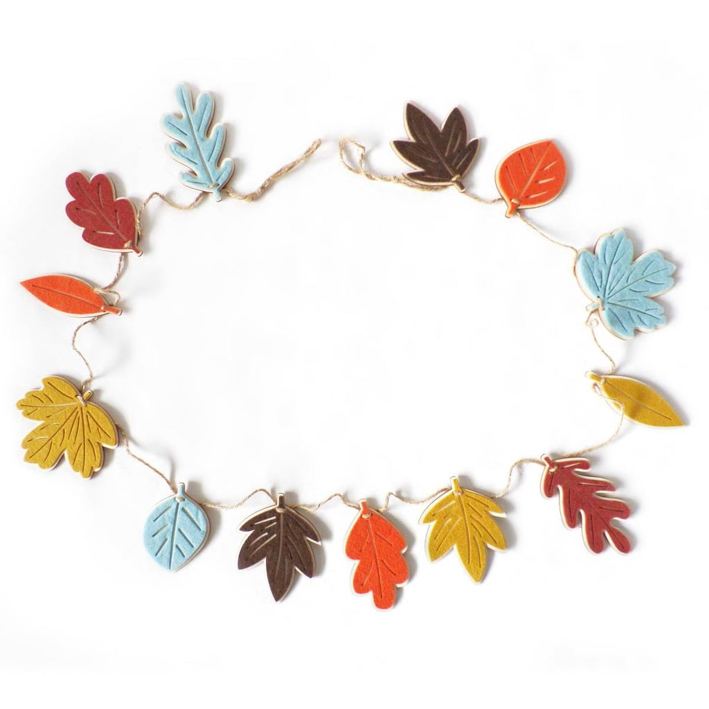 Harvest Felt Leaf Garland 32 Fall Decor Items That Will Make Your Home Feel Cozy And Festive Popsugar Home Photo 13