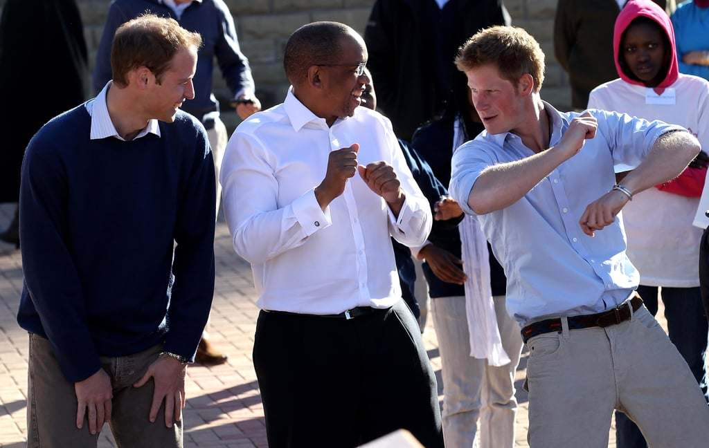 William and Harry With Prince Seeiso of Lesotho in June 2010