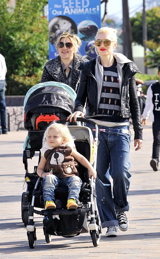 Gwen Has a Picture-Perfect Long Beach Day With Kingston and Zuma
