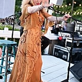 Courtney Love performing at a party thrown by Max Snow at the Surf Lodge in Montauk, NY.  Source: Matteo Prandoni/BFAnyc.com