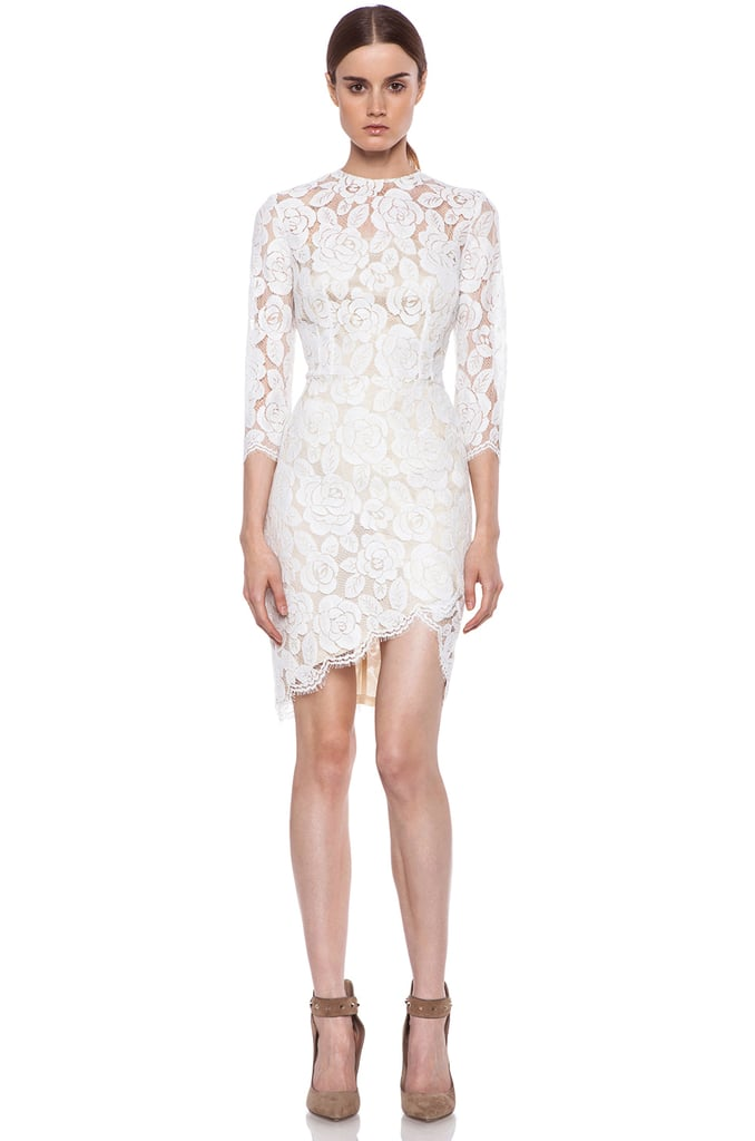 Lover Rosebud Asymmetrical White Lace Dress