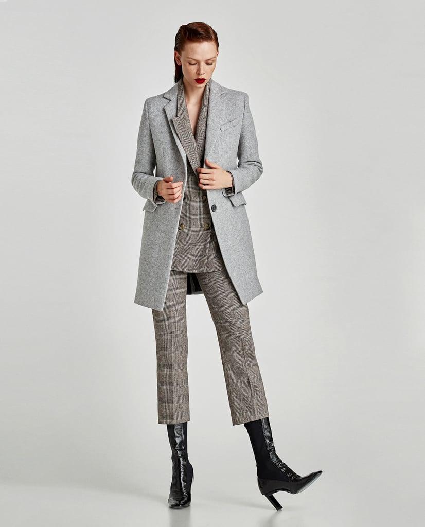 Zara Coat With Shoulder Pads