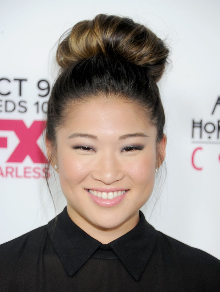 Summer is the time for messy topknots, but Fall is the occasion to beef up your bun for a sleeker (and more rounded) style à la Jenna Ushkowitz, who made an appearance on the American Horror Story: Coven premiere.