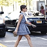 Miroslava Duma strutted her stuff in a sweet mini and standout leopard-print add-ons. Source: Greg Kessler