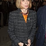 Anna Wintour arrived at the Rochas show on Wednesday in Paris.