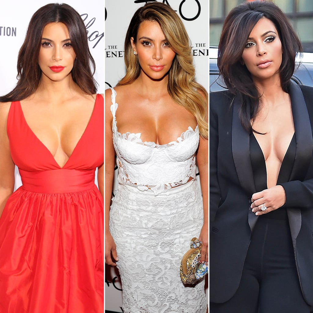 Kim Kardashian Cleavage and Low-Cut Pictures