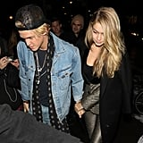 But Still Found Time For Her Boyfriend, Cody Simpson, While Wearing a Too-Cool Golden Suit