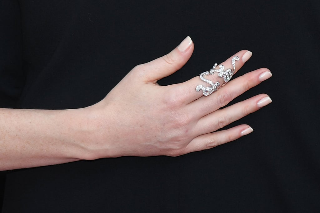 She Styled Her Gown With a Statement Diamond Ring