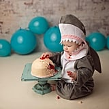 Baby Shark Eating Boob Cake as Breastfeeding a Biter Tribute