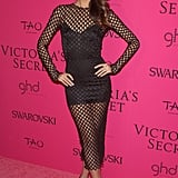 Lily Aldridge's fishnet Dolce & Gabbana dress caught our attention — it was covered up yet oh so sexy.