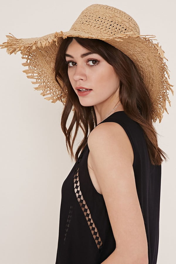 35205bfdea0 Forever 21 Frayed Floppy Straw Hat ( 15)