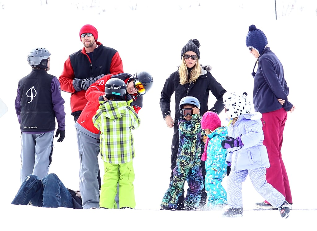 Over their 2011 holiday break, Heidi Klum took Leni, Johan, Henry, and Lou skiing in Aspen, CO.