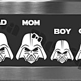 Disa Designs Darth Vader Family Vinyl Decals