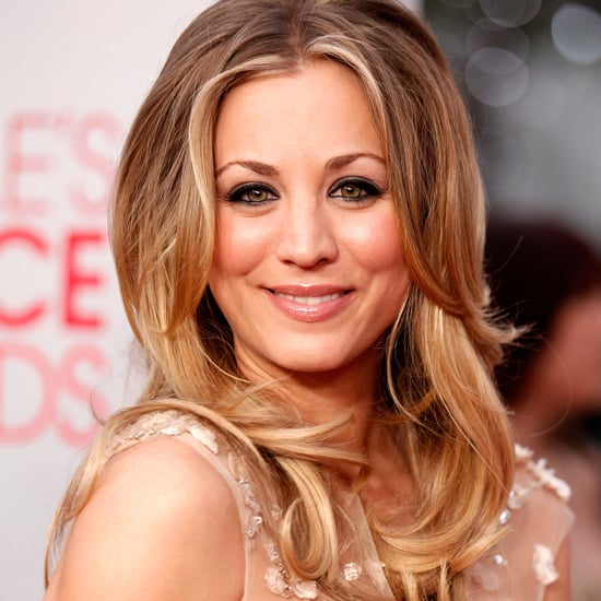 Kaley Cuoco's First Beauty Look at the 2012 People's Choice Awards