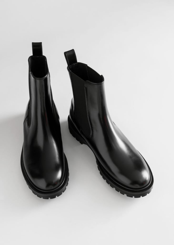 & Other Stories Glossy Leather Chelsea Boots